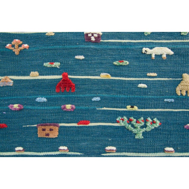 "Textile Anatolian Handmade Kids Kilims Rug - 4'9"" x 2'11"" For Sale - Image 7 of 11"