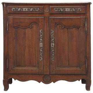 Antique French 2-Door Buffet in Oak For Sale