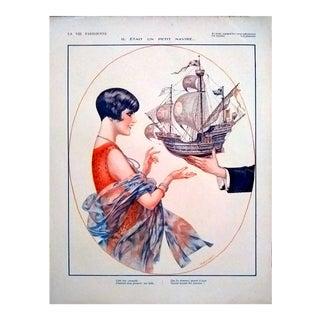 """Chéri Hérouard 1928 """"Petit Navire"""" La Vie Parisienne Print"""