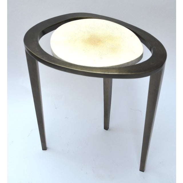 R & Y Augousti Bronze Nesting Side Tables - Image 5 of 10