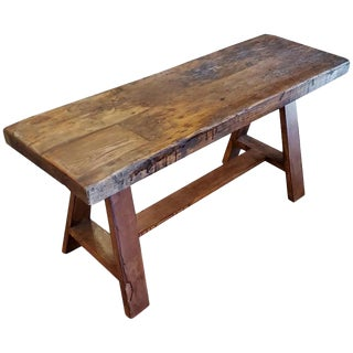 Moroccan Handmade Wood Bench For Sale