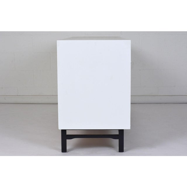 Metal Mid-Century Modern Style Lacquered Credenza For Sale - Image 7 of 10