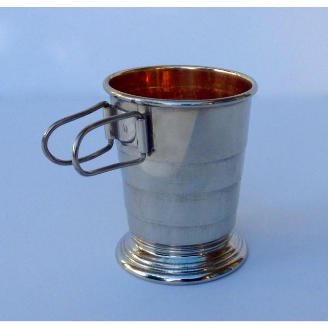 Rare C.F. Rumpp & Sons Silver Plate Collapsible Gentleman's Traveling Cup For Sale - Image 11 of 11