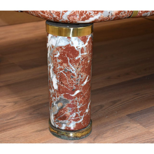 Italian 1970s Tommaso Barbi Ceramic Coffee Table With Mirror Top For Sale - Image 3 of 13