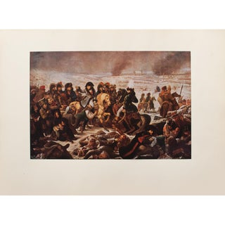"""Napoleon on the Battlefield at Eylau"" by Baron Antoine-Jean Gros, 1940s Swiss Photogravure For Sale"