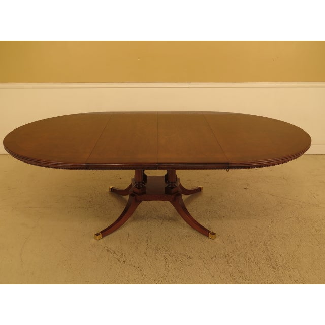 Burl Walnut Round Dining Room Extension Table For Sale - Image 10 of 13