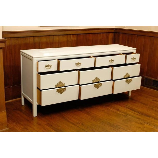 Asian Gorgeous Ten-Drawer Chest by Century Furniture Company, Pair Available For Sale - Image 3 of 11