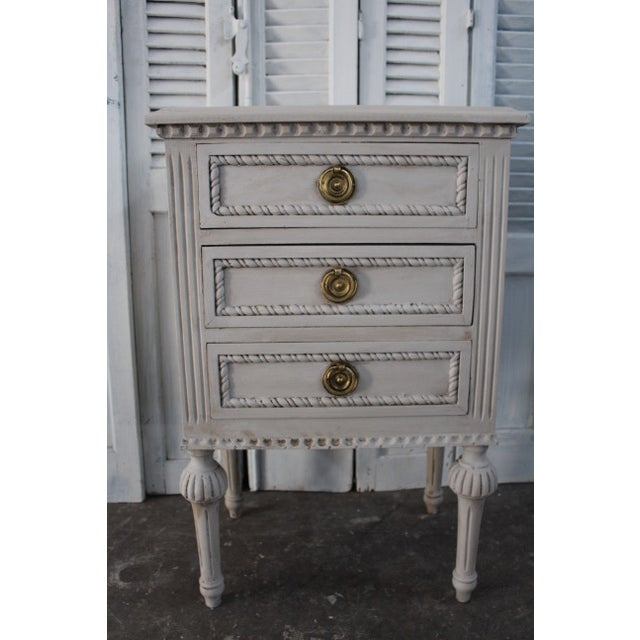 20th Century Swedish Gustavian Style Nightstands - A Pair For Sale In Atlanta - Image 6 of 13