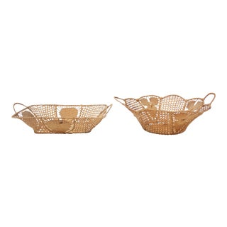 Set of Ornate Victorian Wicker Baskets For Sale