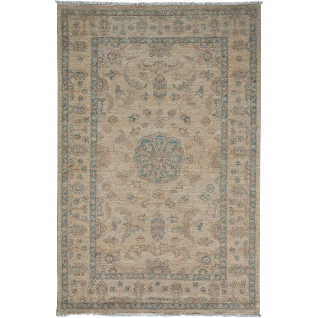 "Oushak Hand Knotted Area Rug - 3' 4"" X 5' 0"" For Sale"