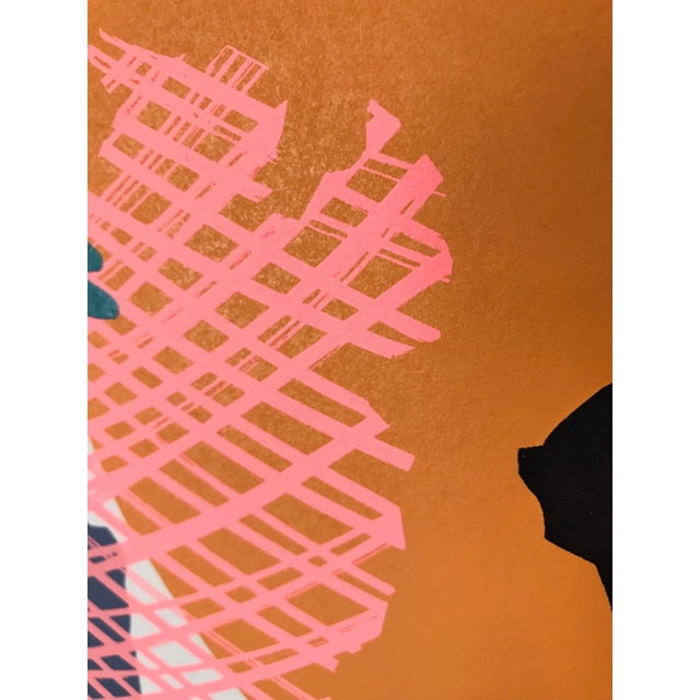 1980s 1980s Silkscreen Neon Abstract For Sale - Image 5 of 8