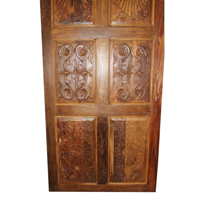 19th Century Antique Carved Barn Door For Sale - Image 5 of 6