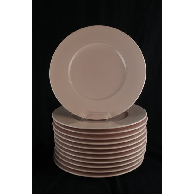 Pink Mid 20th Century Rose Pink Mikasa Chargers - Set of 12 For Sale - Image 8 of 9