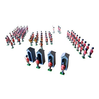 1960s Vintage Britain's Changing of the Guard Toy Soldiers No. 9424 - Set of 85 For Sale