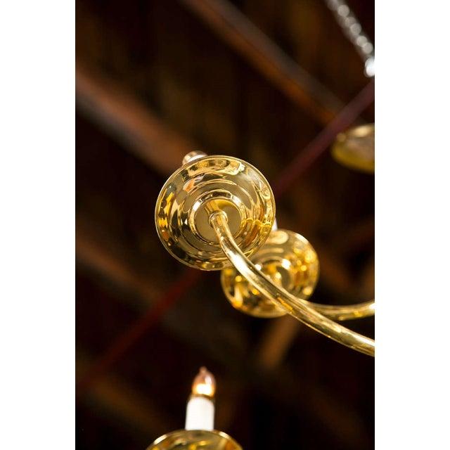 Twelve Light Brass Ball Form Chandelier - Image 4 of 8