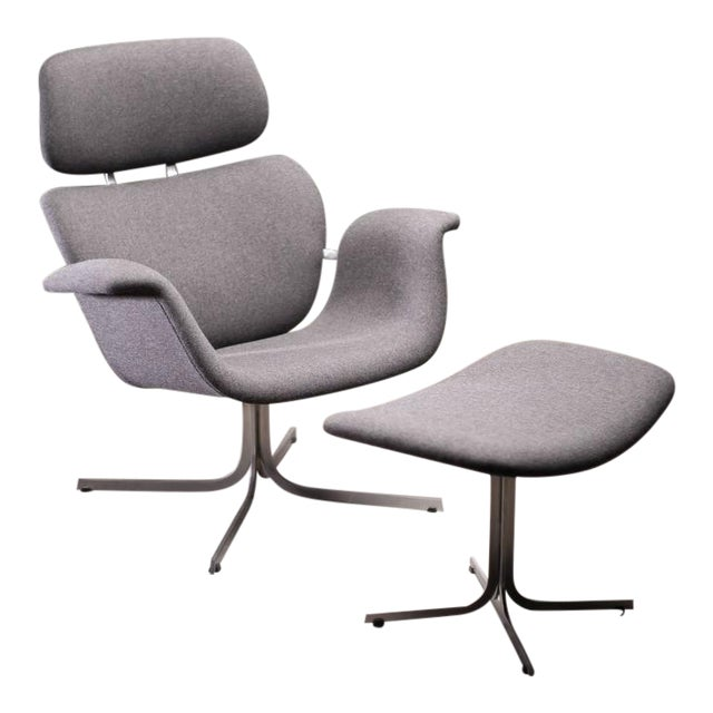 Pierre Paulin F545 Lounge Chair with Matching Footstool for Artifort For Sale