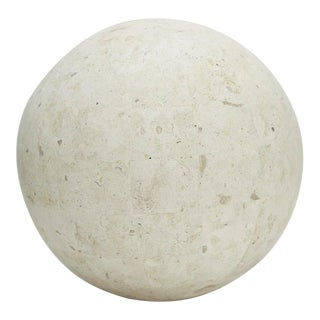 Contemporary Tessellated Matte Mactan Stone Sphere - 10.5 In. Diameter For Sale