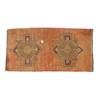 "Handmade Door Mat, Entryway Rug, Bath Mat, Kitchen Decor, Small Rug, Turkish Rug - 20"" X 39"" For Sale"