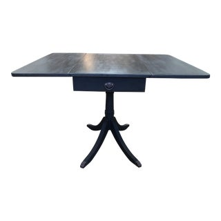 19th Century Style English Traditional Drop Leaf Table + Claw Feet For Sale