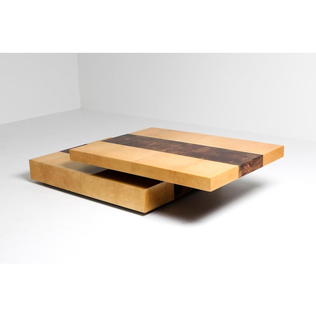 1970s Aldo Tura Two-Tier Sliding Coffee Table For Sale - Image 5 of 12