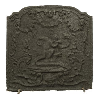 Antique Cast Iron Fireback
