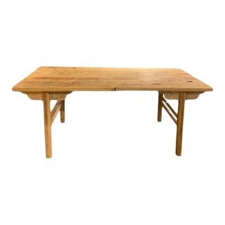 1960s Reclaimed Wood Dining Table For Sale