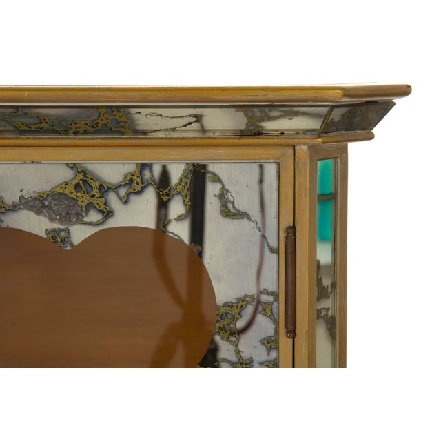 Gold French Art Deco Smoked Mirror Bar Server Console Sideboard, C. 1940s For Sale - Image 8 of 13