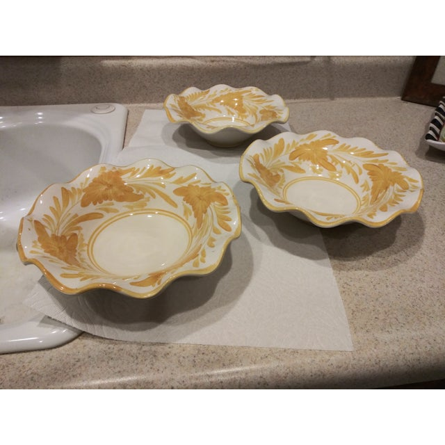 1950s IK Ruffled Bowls - Set of 3 For Sale In Palm Springs - Image 6 of 6