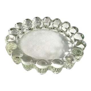 Early 20th Century Antique Art Deco Glass Ashtray For Sale