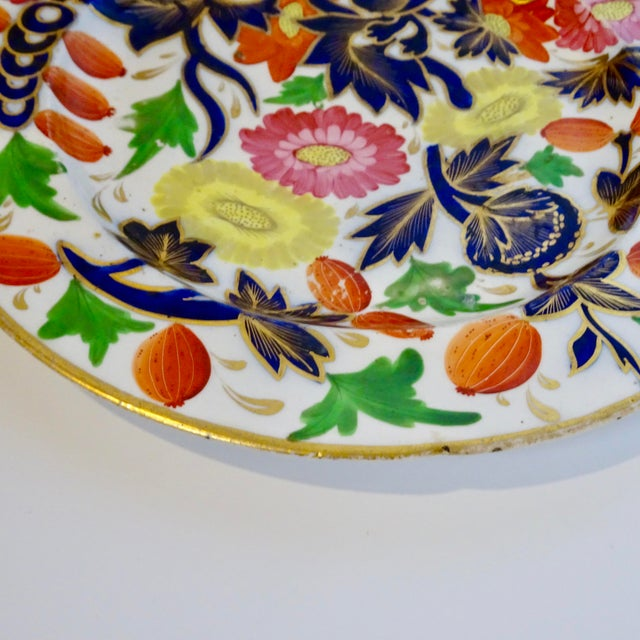 Ceramic 19th Century Porcelain Plate With Decorative Floral Design For Sale - Image 7 of 10