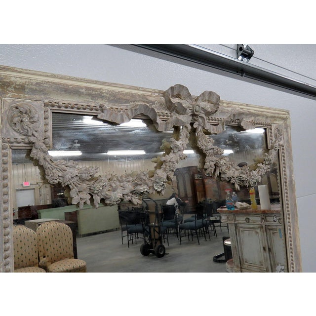 Louis XVI Style Wall Mirror For Sale - Image 9 of 12