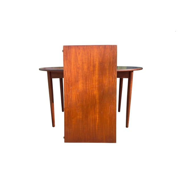 Brown Peter Hvidt and Orla Mølgaard-Nielsen Dining Chairs and Table - Set of 5 For Sale - Image 8 of 13