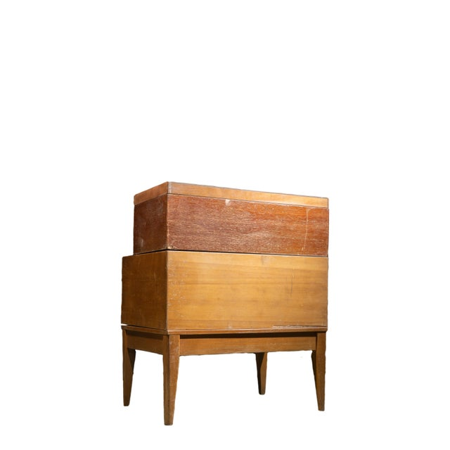 1950s Mid Century Standing Card Catalogue and File Cabinet For Sale In Chicago - Image 6 of 8