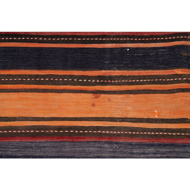 "Textile Mid-20th Century Vintage Kilim Runner Rug 5' 2"" X 10' 10''. For Sale - Image 7 of 13"