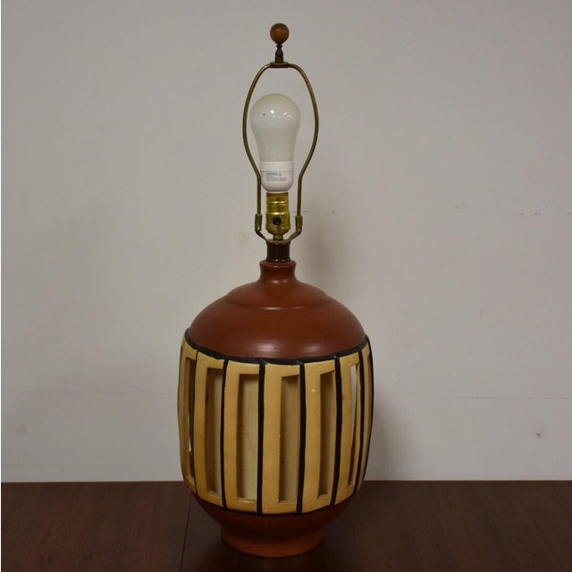 Mid Century Pottery Table Lamp - Image 4 of 9