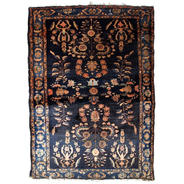 1920s, Handmade Antique Persian Sarouk Rug 3.3' X 5.4' For Sale - Image 9 of 9