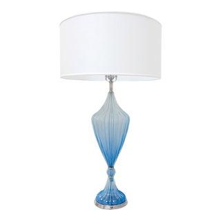 Murano Azure-Blue Glass Lamp