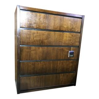 1970s Lane Walnut Plith Base Dresser For Sale