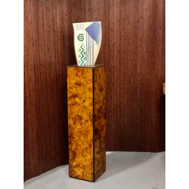 Drexel-Heritage Burlwood Pedestal Display Stand For Sale In Fayetteville, AR - Image 6 of 8