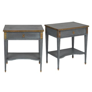 French Directoire Style Side Tables - a pair