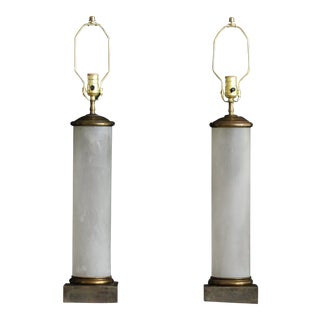 Pair of Empire Style Table Lamps For Sale