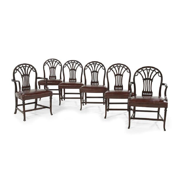 George III Style Dining Chairs - Set of 6 - Image 6 of 7