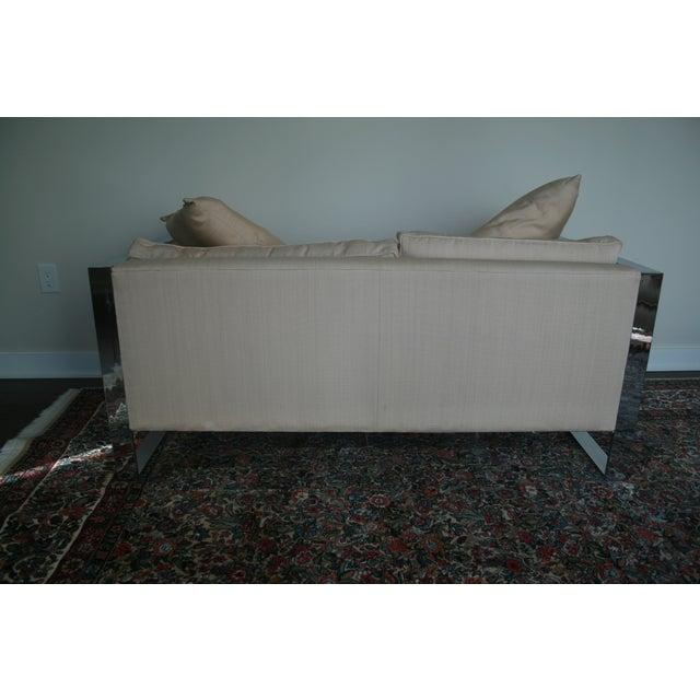 Milo Baughman Chrome Sofa and Loveseat - Image 10 of 11