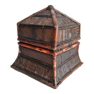 Tribal Indonesian Lidded Decorative Box For Sale