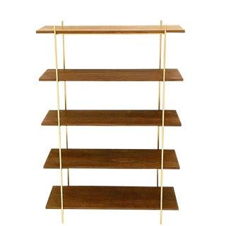 Walnut & Gold Tall Bookshelf