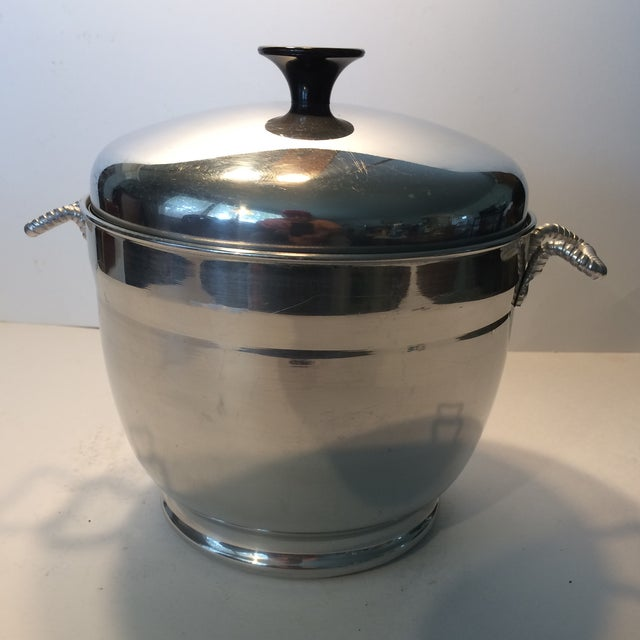 Mid-Century Modern Insulated Ice Bucket For Sale - Image 5 of 11