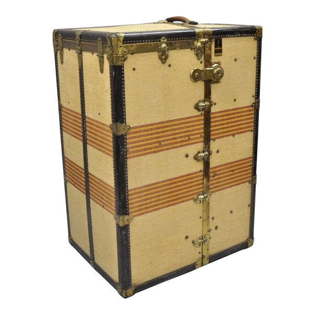 1930s Traditional Oshkosh the Chief Wardrobe Steamer Trunk For Sale