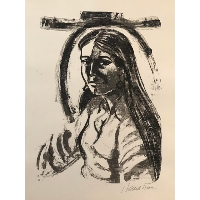 Silkscreen portrait by Washington DC based African American Artist Hilliard Dean (born 1933). This print was made in the...