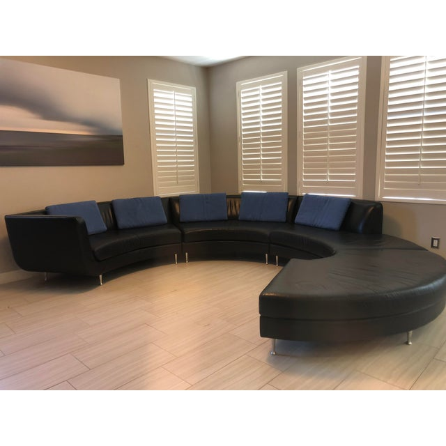 Contemporary American Leather Menlo Park Sectional For Sale - Image 11 of 13