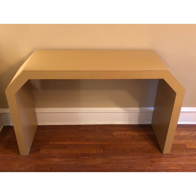 Gold Sculptural Console Table For Sale - Image 8 of 8